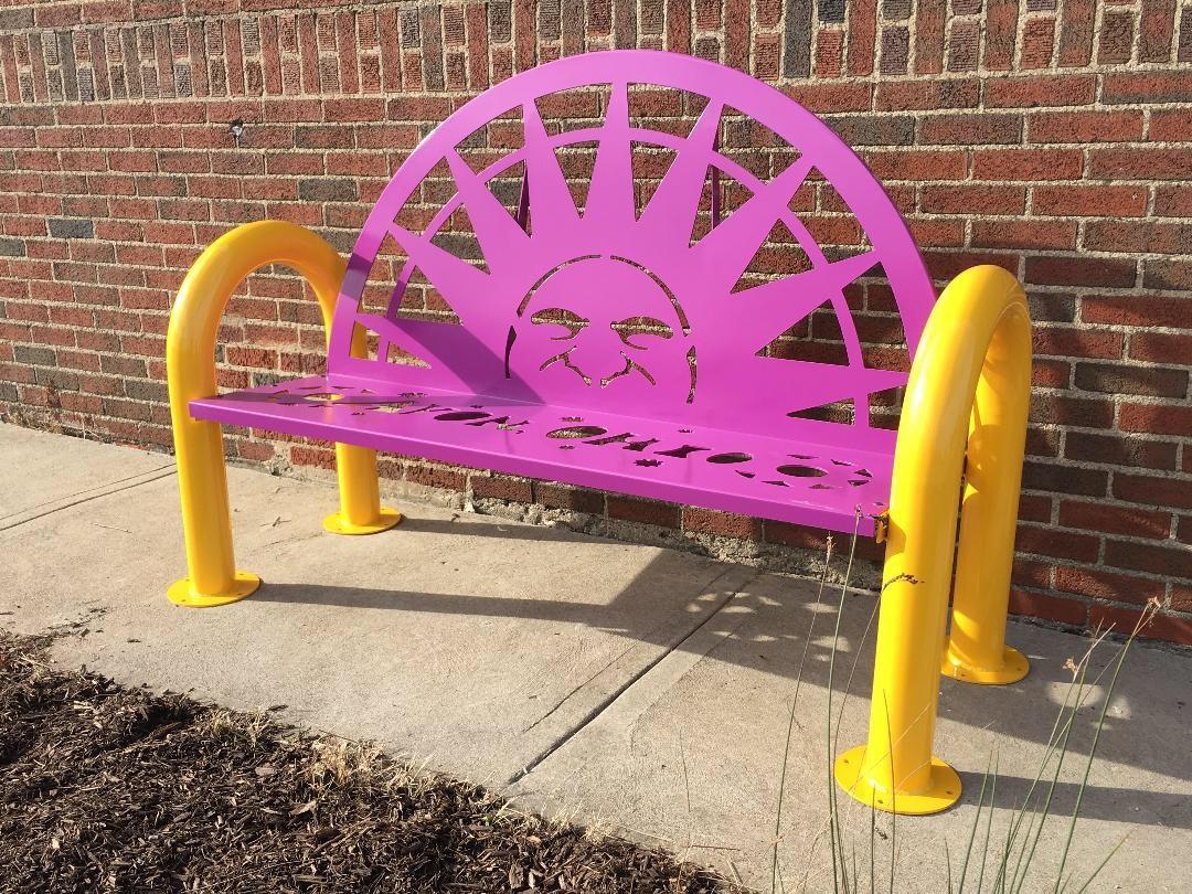 custom metal benches, laser cutting, press brake